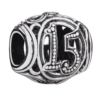 Chamilia Sterling Silver Filigree 15 Milestone Charm - Product number 3476529
