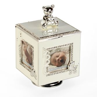 Bambino By Juliana Silver Rotating Photo Frame Music Box - Product number 3478025