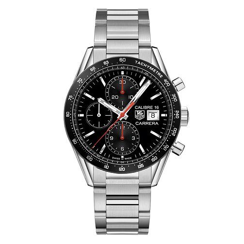 TAG Heuer Carrera Men's Stainless Steel Bracelet Watch - Product number 3479188