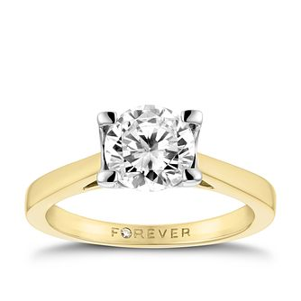 18ct Yellow Gold 1 1/4 Carat Forever Diamond Ring - Product number 3479447