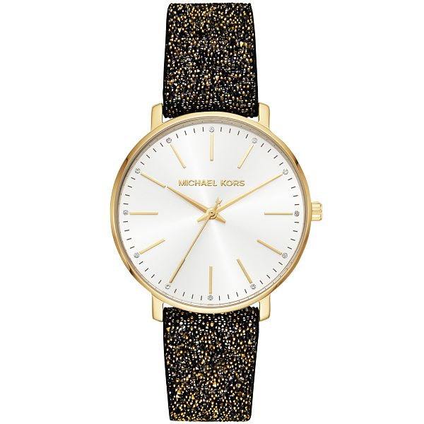 Michael Kors Pyper Ladies' Black Glitter Strap Watch - Product number 3479528