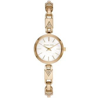 Michael Kors Jaryn Mercer Ladies' Gold Plated Bracelet Watch - Product number 3479552