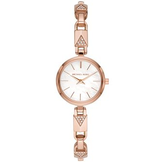 Michael Kors Jaryn Mercer Crystal Rose Gold Plated Watch - Product number 3479560