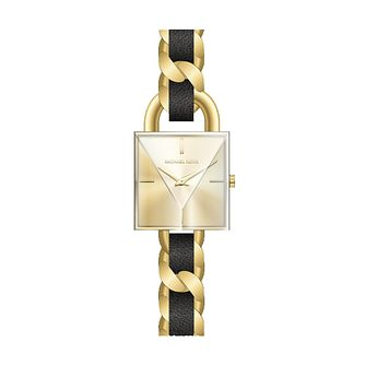 Michael Kors Chain Lock Ladies' Gold Tone Bracelet Watch - Product number 3479773