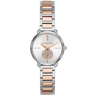Michael Kors Petite Portia Ladies' Two Tone Bracelet Watch - Product number 3480089
