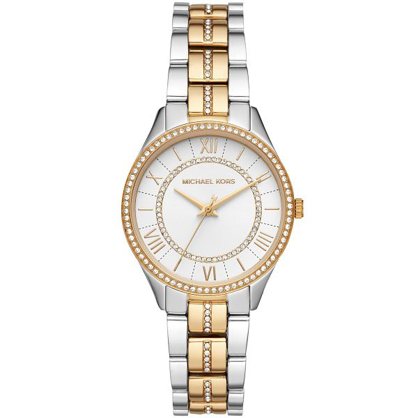 Michael Kors Lauryn Crystal Two Tone Bracelet Watch - Product number 3480844