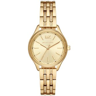 Michael Kors Lexington Crystal Gold Plated Bracelet Watch - Product number 3481077