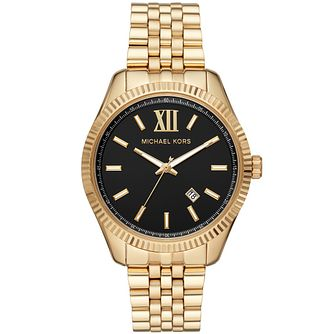 Michael Kors Lexington Men's Gold Plated Bracelet Watch - Product number 3481123