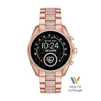 Michael Kors Bradshaw 2 Crystal Rose Gold Plated Smartwatch - Product number 3481220