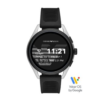 Emporio Armani Generation 5 Black Silicone Strap Smartwatch - Product number 3481972