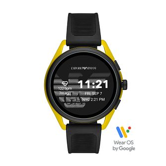 Emporio Armani Generation 5 Black Silicone Strap Smartwatch - Product number 3482006