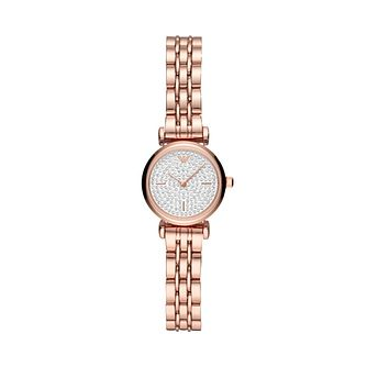 Emporio Armani Crystal Ladies' Rose Gold Tone Bracelet Watch - Product number 3482057