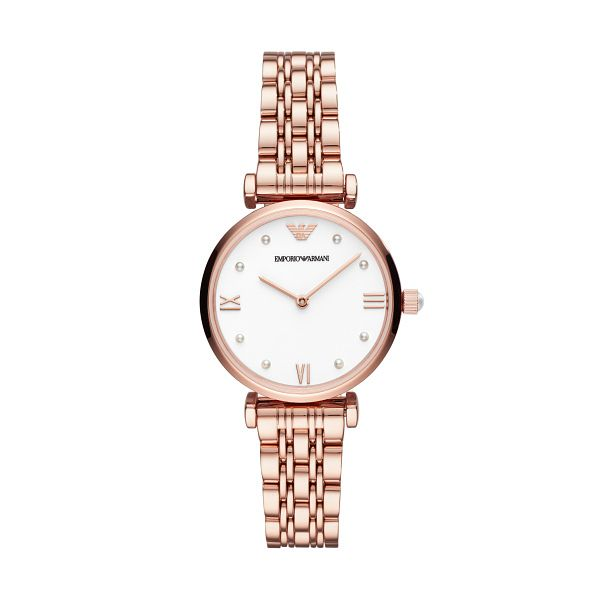 Emporio Armani Ladies' Rose Gold Tone Bracelet Watch - Product number 3482170