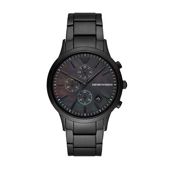 Emporio Armani Men's Black IP Bracelet Watch - Product number 3482219