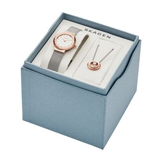 Skagen Leonora Ladies' Watch & Necklace Gift Set - Product number 3482243