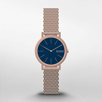Skagen Ladies' Rose Gold Tone Stainless Steel Bracelet Watch - Product number 3482278