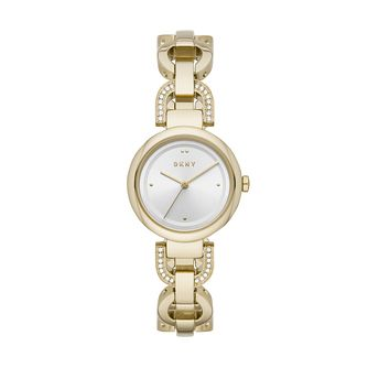 DKNY Eastside Ladies' Gold Tone Swarovski Bracelet Watch - Product number 3482596