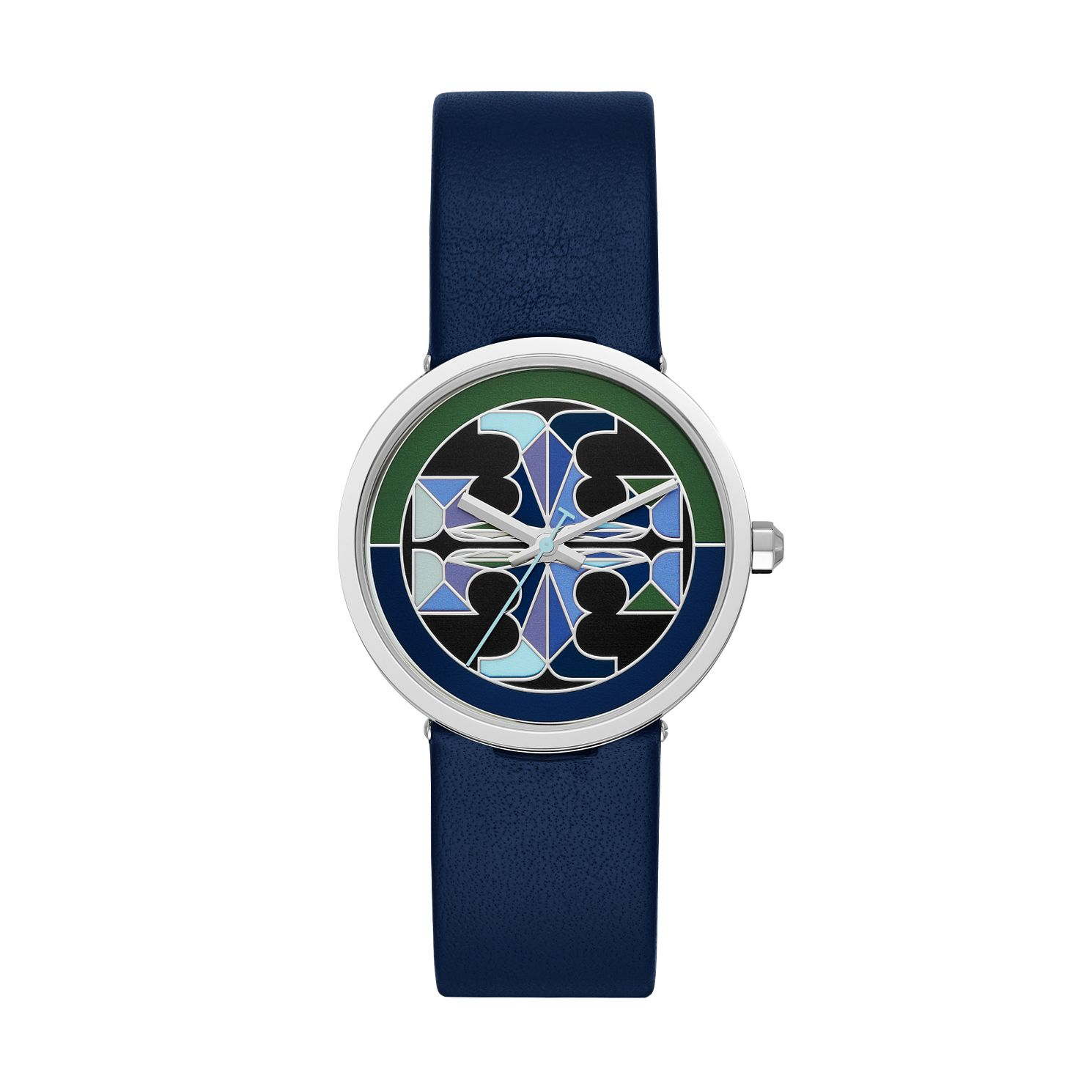 Tory Burch Reva Ladies' Navy Leather Strap Watch - Product number 3484483