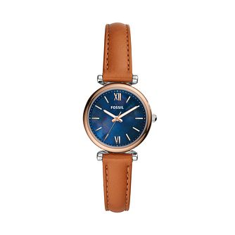 Fossil Carlie Mini Ladies' Brown Leather Strap - Product number 3484629