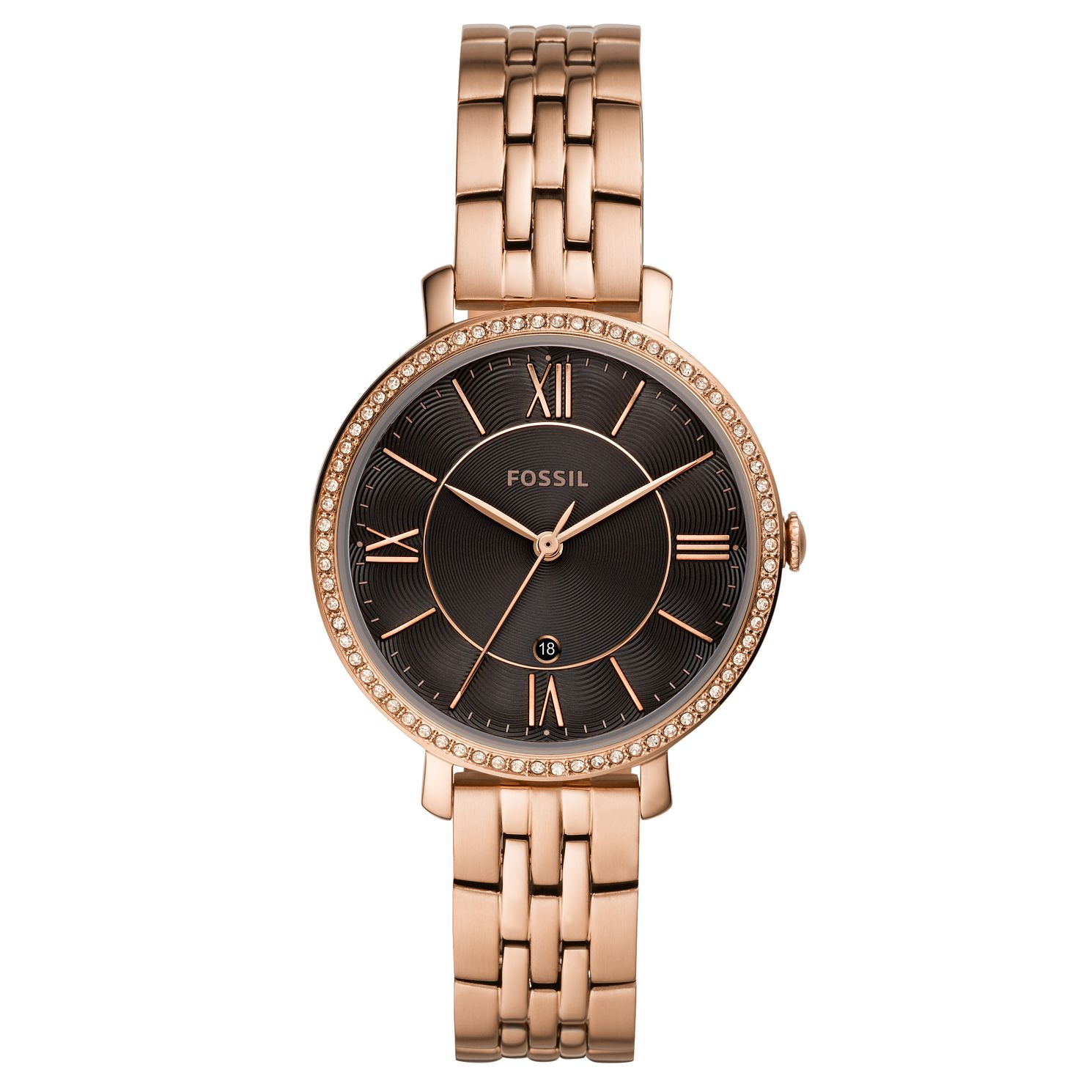 Fossil Jacqueline Ladies' Rose Gold Tone Bracelet Watch - Product number 3484726