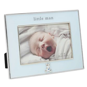"Bambino By Juliana Silver Tone 4""x6"" Little Man Photo Frame - Product number 3485153"