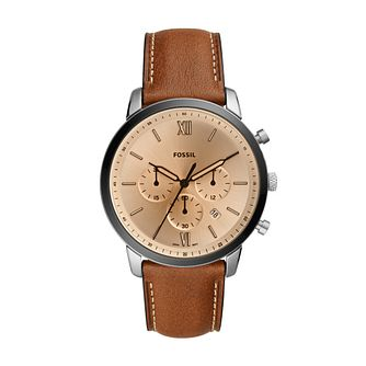 Fossil Neutra Chronograph Men's Brown Leather Strap Watch - Product number 3485285