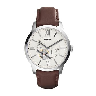 Fossil Townsman Men's Brown Leather Watch - Product number 3485471