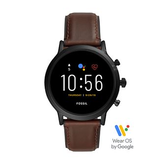 Fossil Smartwatches The Carlyle HR Gen 5 Leather Strap Watch - Product number 3485587
