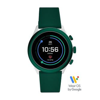 Fossil Smartwatches Sports Green Silicone Strap Watch - Product number 3485595