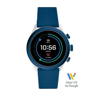 Fossil Smartwatches Sports Blue Silicone Strap Watch - Product number 3485609