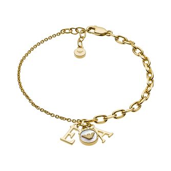 Emporio Armani Yellow Gold Tone Mother-of-Pearl Bracelet - Product number 3485781