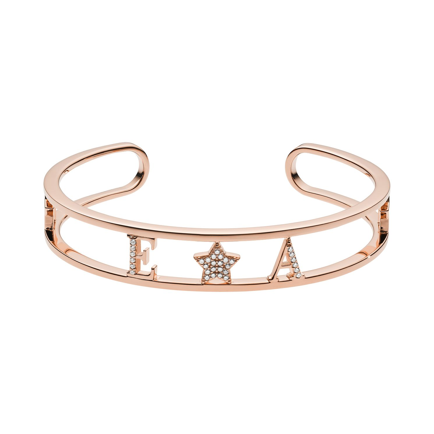 Emporio Armani Rose Gold Tone Swarovski Crystal Bangle - Product number 3485803