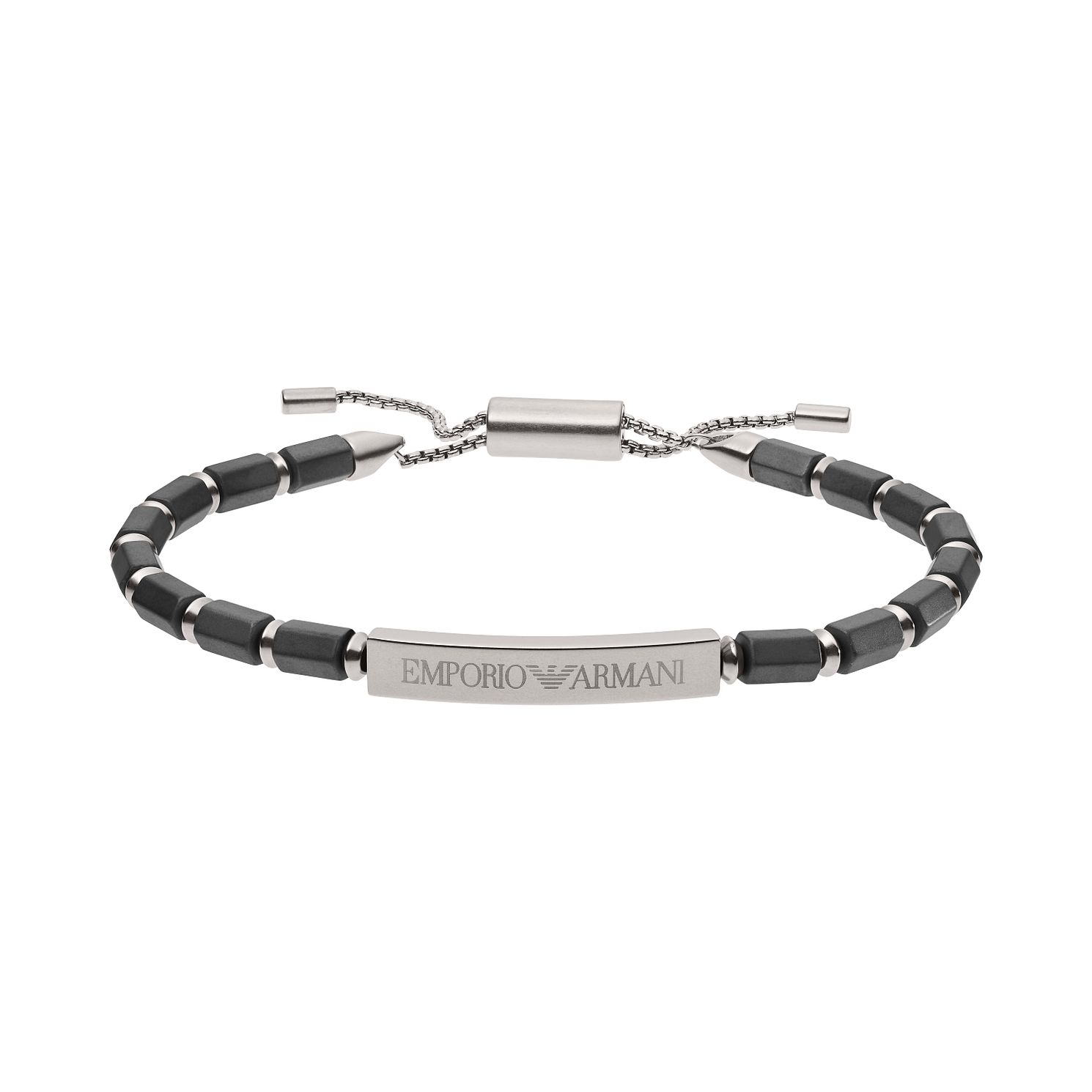 Emporio Armani Men's Light Magnesium Bar Bracelet - Product number 3485846