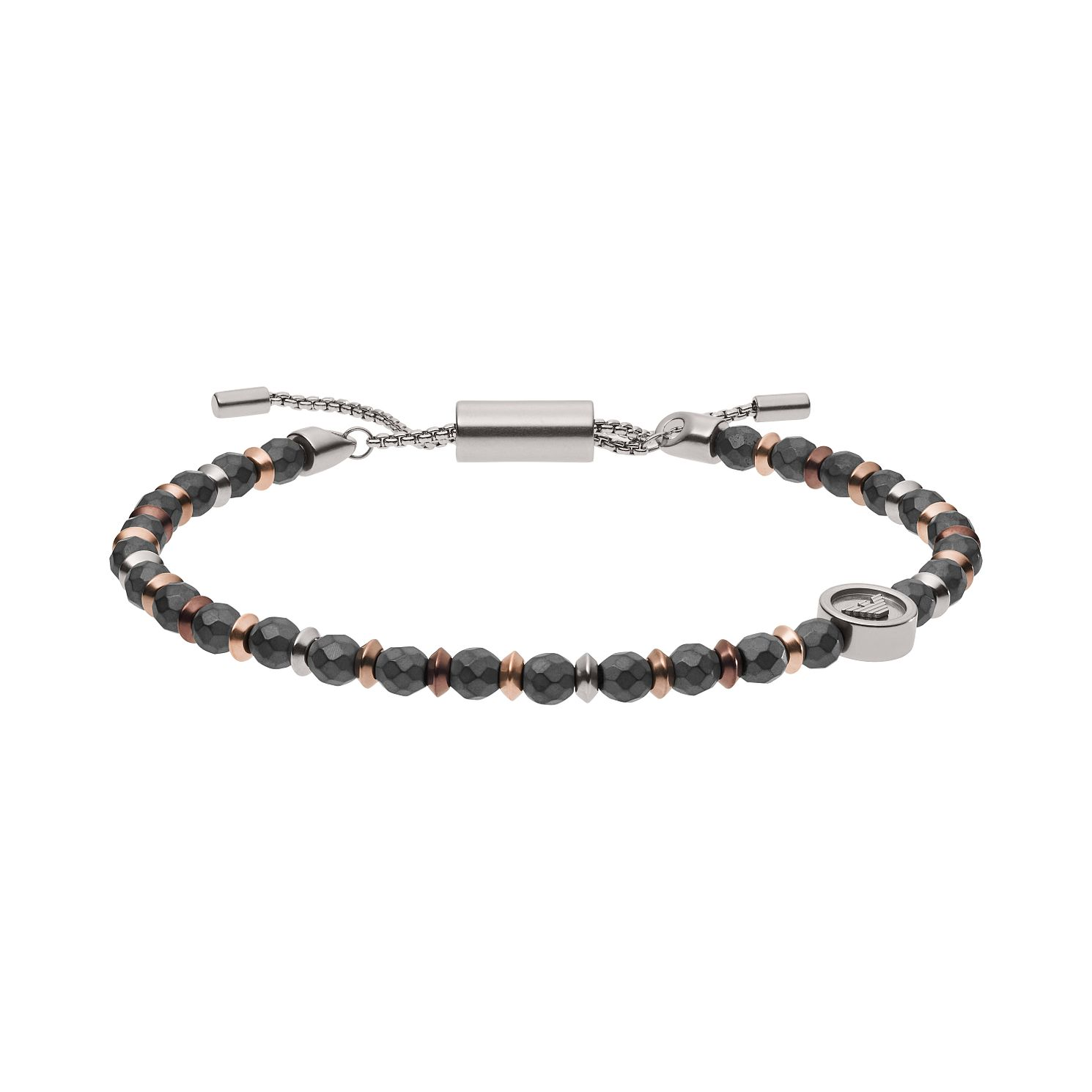 Emporio Armani Men's Light Magnesium Bead Bracelet - Product number 3485900