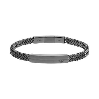 Emporio Armani Men's IP Stainless Steel ID Bracelet - Product number 3485994