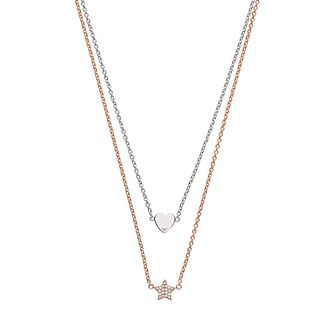 Emporio Armani Two Tone Swarovski Crystal Necklace - Product number 3486060