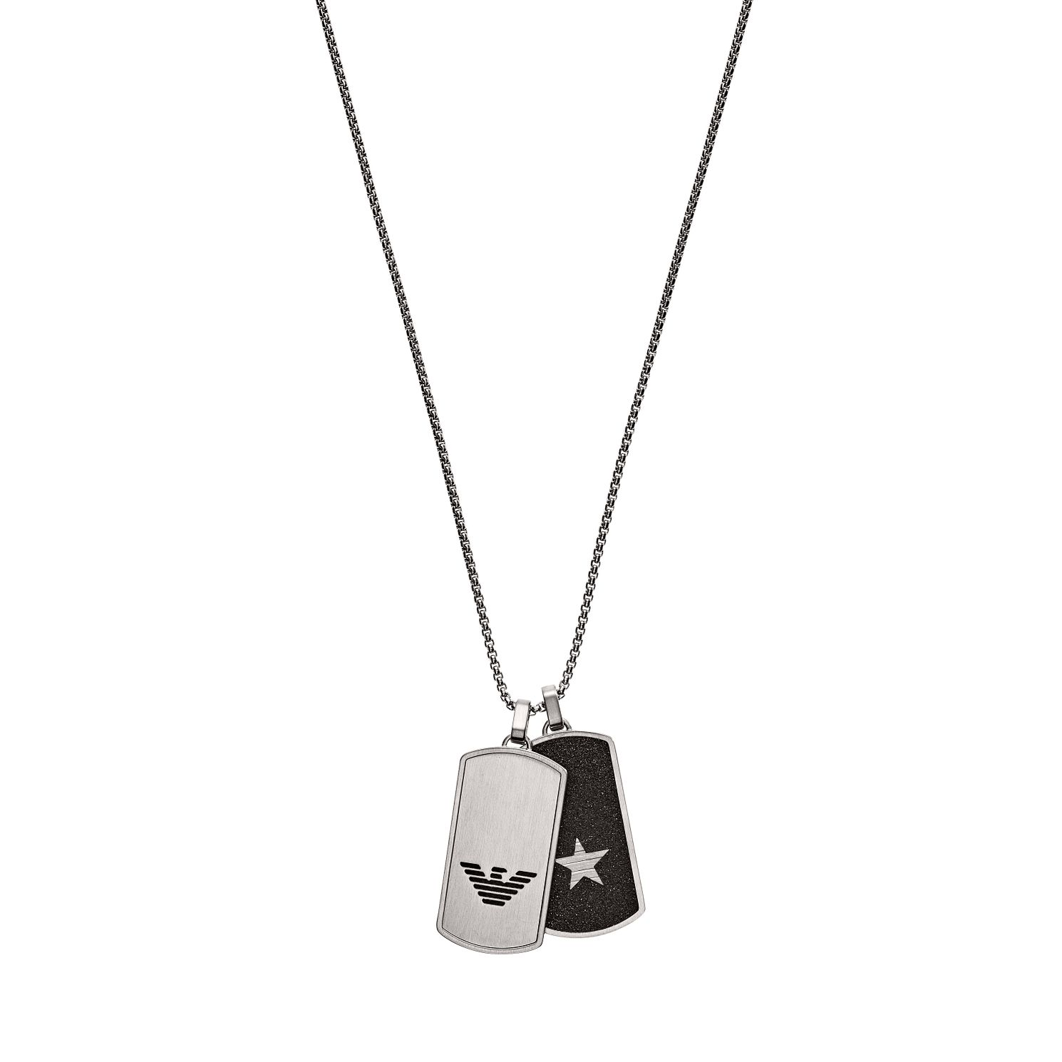 Emporio Armani Stainless Steel Men's Dog Tag Pendant - Product number 3486109