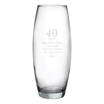 Engraved 40 Years Bullet Vase - Product number 3486923
