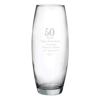 Engraved 50 Years Bullet Vase - Product number 3486958