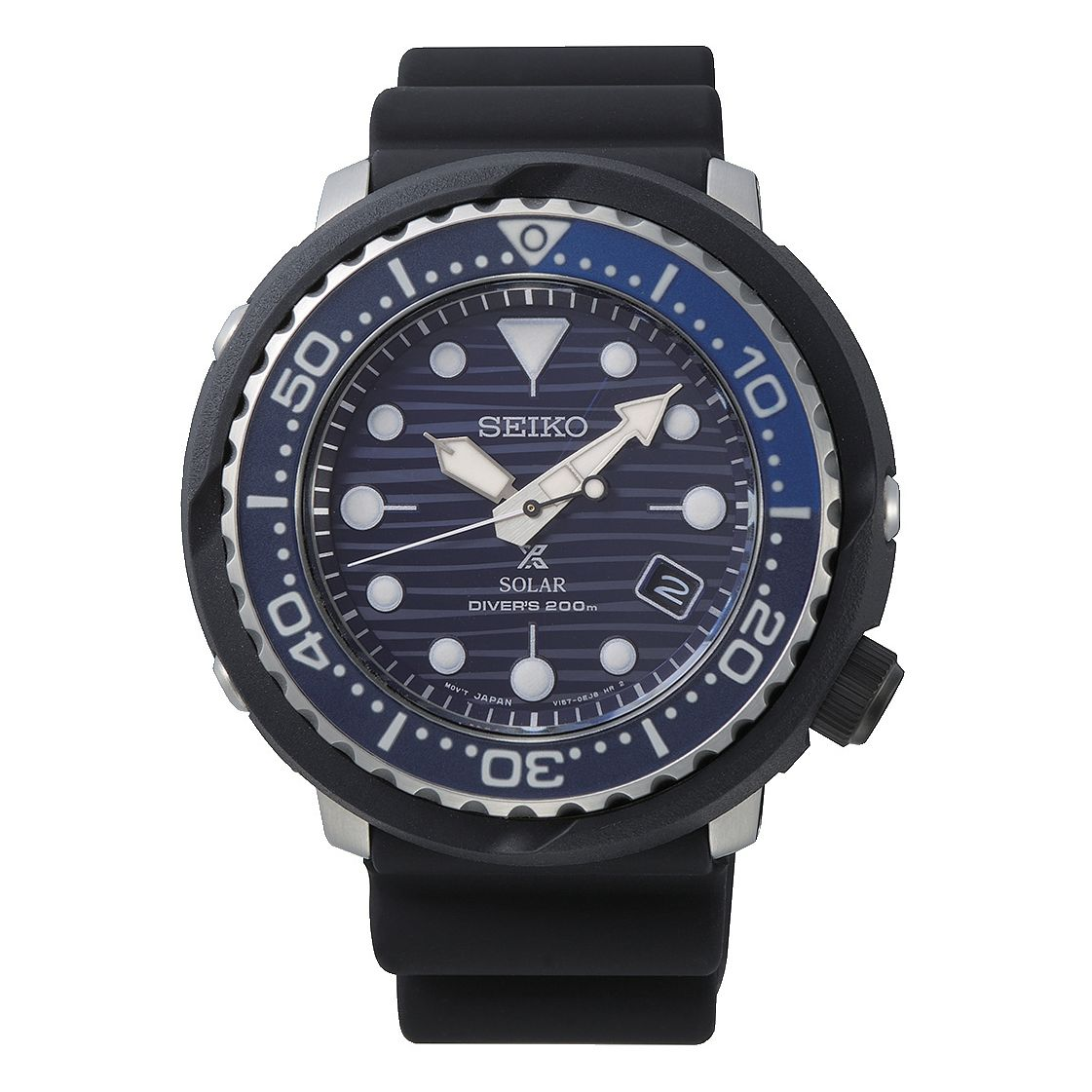 Seiko Prospex Save The Ocean Tuna Men's Black Strap Watch