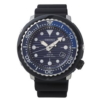 Seiko Prospex Save The Ocean Tuna Men's Black Strap Watch - Product number 3490386