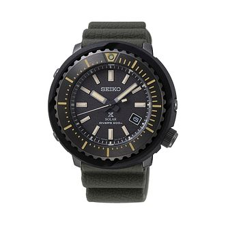 Seiko Prospex Men's Khaki Green Silicone Strap Watch - Product number 3491439