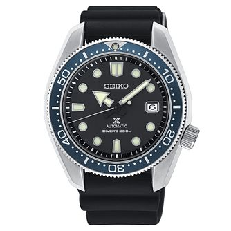 Seiko Prospex Men's Black Silicone Strap Watch - Product number 3495310