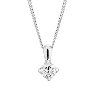 Platinum 1/4ct Diamond Brilliant Cut Solitaire Pendant - Product number 3499219