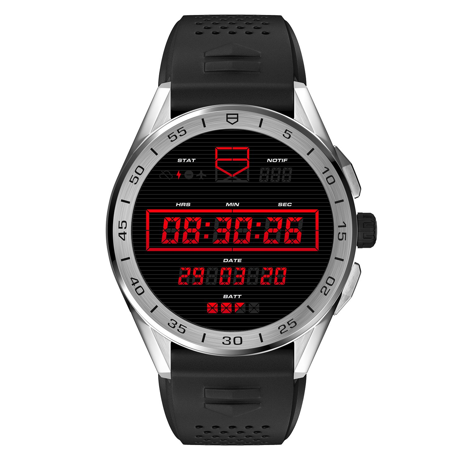 TAG Heuer Connected Black Rubber Strap Smartwatch - Product number 3503852