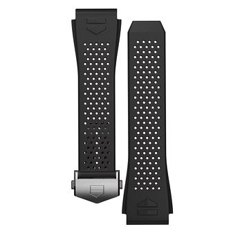 TAG Heuer Men's Black Rubber Watch Strap - Product number 3508129