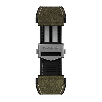 TAG Heuer Connected Green Leather Watch Strap - Product number 3510662