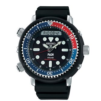 Seiko Prospex PADI Arnie Men's Black Silicone Strap Watch - Product number 3510905