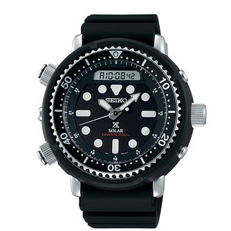 Seiko Prospex Arnie Men's Black Silicone Strap Watch - Product number 3510948