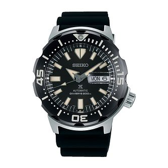 Seiko Prospex Monster Men's Black Silicone Strap Watch - Product number 3511073